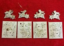 4 Engel Miniaturen auf Sternenschweif  3 cm ..sehr einfaches Basteln im Herbst