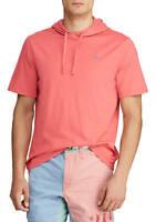 Polo Ralph Lauren Mens HOODED T-shirt RED 100% Soft Cotton XLT 2XLT 3XLT 4XB NEW
