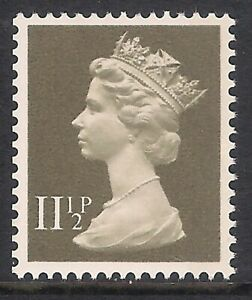 GB 1981 sg X894 11 1/2p Drab Right Band Booklet Stamp MNH
