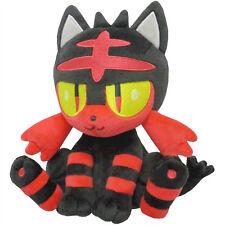 """NEW Sanei Pokemon All Star Collection Sun & Moon 7"""" Plush Doll PP55 Litten"""