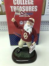 Oklahoma Sooners Cheering Mascot Santa College Treasures Slavic Medium Figurine