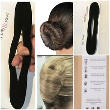 MAGIC HAIR BUN MAKER FRENCH TWIST FOAM STYLING TOOL HAIR FORMER BLACK 22x5cm