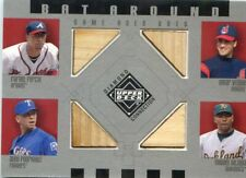 2002 UD UPPER DECK BAT RELIC OMAR VIZQUEL ALEX RODRIGUEZ RAFAEL FURCAL AROUND