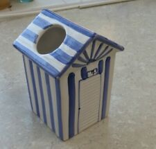 Toothbrush and toothpaste holder - beach hut theme