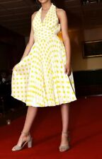 Betsey Johnson Fab Pure Silk 1950s Marilyn Monroe style pleated Dress - usa 4