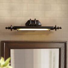 Rustic Country Black Brown Long Bar LED Glass Bathroom Vanity Wall Lights Sconce