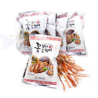 10pcs x 15g Korean Seasoned Dried ORIGINAL Torn Up Cuttlefish Squid Snack_ar