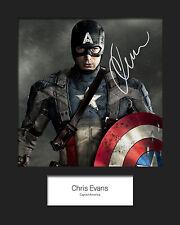 CHRIS EVANS (CAPTAIN AMERICA) #2 Signed Photo Print 10x8 Mounted Photo Print