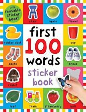 First 100 Words Sticker Book (pb)  by Roger Priddy NEW