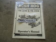 Bush Hog Td 1500 Td 1700 Tri Deck Finishing Mower Operators Manual