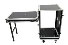 16 Space Amp ATA Rack Road Case w/ Lid Table by OSP