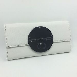 $SALE$ 50% Off MIMCO TURNLOCK WALLET in white & matt black Stock Clearance