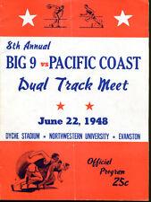 1948 Big 9 v Pacific Coast Track Field Program June 22 Ex Condition