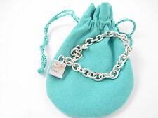 Tiffany & Co RARE Silver Shopping Bag Signature Charm Bracelet Bangle!