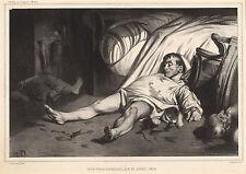 Honore Daumier Reproductions: Rue Transnonian: Fine Art Print