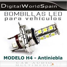 2 BOMBILLAS DE LEDS H4 PARA FAROS ANTINIEBLA LUZ BLANCA