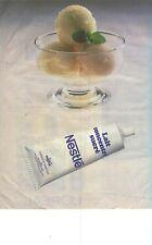 PUBLICITE ADVERTISING 1984   NESTLE  lait concentré sucré