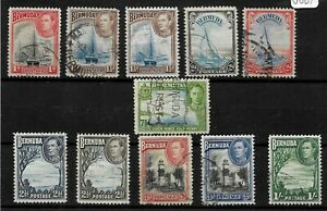 Bermuda, 1938 KGVI pictorials, complete set used (B217)