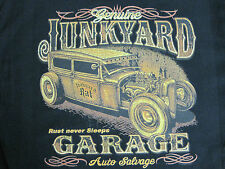 JUNKYARD GARAGE AUTO SALVAGE HOT ROD ACCENT THROW PILLOW MAN CAVE GAME ROOM