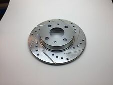Fiat 500 2012+ Drilled and Slotted Upgrade Rear Brake Rotors, Pair, All