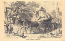 Zigeuner auf der Wanderung-Sinti-Roma - Holzstich 1880