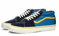VANS VAULT SK8-MID LX MEDITERRANEAN BLUE & YELLOW / MEN'S TRAINER/ Limited Sizes