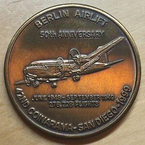 1999 Bronze Coinarama Medal; Berlin Airlift; San Diego CA (#x705)