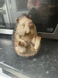 Large Laughing Hedgehog Latex Rubber Mould Mold  Garden Animal Casting Ornaments