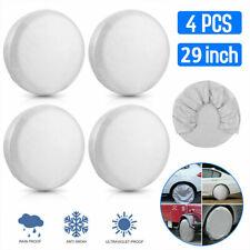 "4Pcs Waterproof Wheel Tyre Covers RV Trailer Camper Sun Protector 27"" - 29"" Tire"