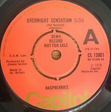 "Raspberries - Overnight Sensation UK 1974 7"" Capitol Records (Demo)"
