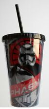 Star Wars Force Awakens Double Wall Travel Cup W/ Straw Phasma Carnival Cup New
