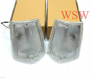FOR 85-98 MAZDA B2000 B2200 B2600 CLEAR CORNER TURN SIGNAL LIGHTS SET LH RH LENS