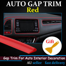 Red Gap Trim Moulding Garnish Line For Car Inner Gaps Decor Strip Accessory 8Ms