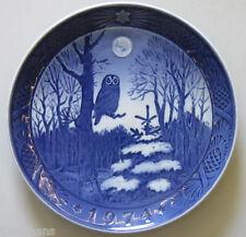 "Royal Copenhagen Christmas Plate 1974 ""Winter Twilight"" 1st Quality"