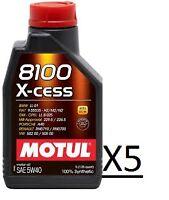 OLIO MOTUL 8100 X-CESS 5W40 100% SINTETICO / 5 LITRI PER AUTO FORD