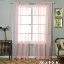 "2 pcs Blush 52"" x 96"" Sheer Organza Window CURTAINS Drapes Panels Home Party"