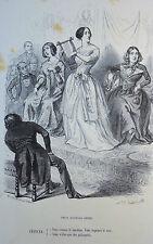 Caricature Humour GRANDVILLE Jérome Paturot REYBAUD Trois dixièmes Muses 1846