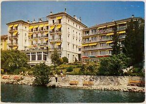 Golf Hotel Montreux Rene Capt Suisse Switzerland Postcard 1980s stamp 1 Helvetia