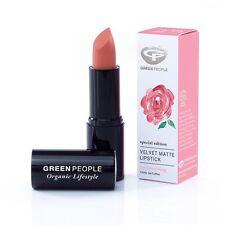 Green People Organic VELVET MATTE 100% NATURAL LIPSTICK - Damask Rose- Nude Pink