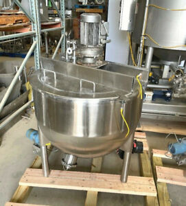 60 Gallon LEE Stainless Steel Jacketed with Scrape Surface agitation Kettle
