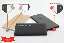 10000 mah Portable Power Bank with Built-in Type-C Micro USB Lightning Cables