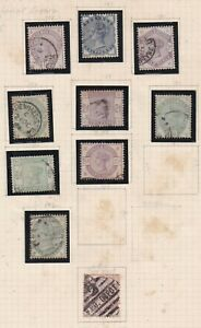 Lot:38932  GB QV  Lilac & Green collection