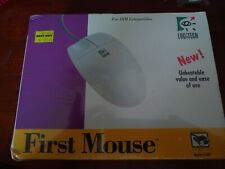 Sealed Vintage 1995 Logitech First Mouse Wired Model #1340 Serial Version