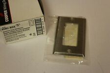 New 10 Pack Cooper 93401-Box 1-Gang Decorator Stainless Steel Wallplates Outlet