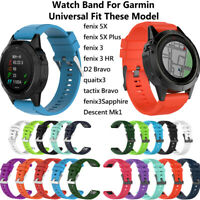 armband silikon - armband 26mm universal armband For Garmin Fenix 3 HR 5X Plus