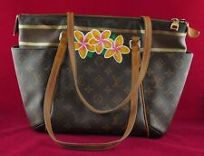 Louis Vuitton Totally PM Neverfull Shoulder Bag Purse Tote Custom Painted SD1115