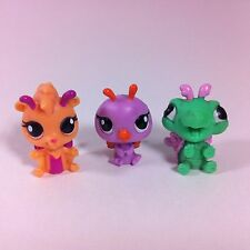 Littlest Pet Shop Lot of 3 Mini Fairies Turtle Flying Squirrel Roller Coaster