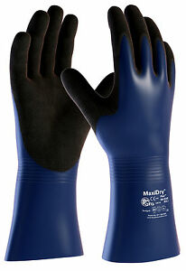 ATG MaxiDry Waterproof Gauntlets Chemical Oil Wet Work Gloves Long Cuff (56-530)