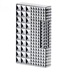 S.T. Dupont Ligne 2 Lighter, Palladium Diamond Head, ST016066, New In Box