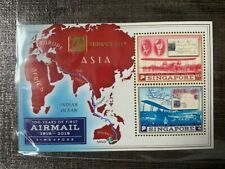 Singapore Singpex 2019 100 years of First Airmail MS with Overprint